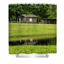 Stables At Fort Washita Shower Curtain