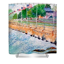 Stacey Boulevard,gloucester, Ma Shower Curtain by Kathryn G Roberts