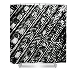 Stacked Chairs Abstract Shower Curtain