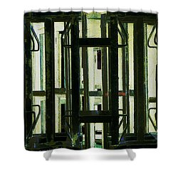 Stacked Metal Pallets 2 Shower Curtain