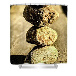 Shower Curtain featuring the photograph Stacked Rocks by Onyonet  Photo Studios