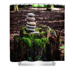 Shower Curtain featuring the photograph Stacked Stones And Fairy Tales IIi by Marco Oliveira