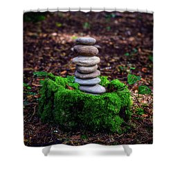 Shower Curtain featuring the photograph Stacked Stones And Fairy Tales Iv by Marco Oliveira