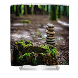 Shower Curtain featuring the photograph Stacked Stones And Fairy Tales by Marco Oliveira