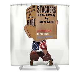 Stackers Poster Shower Curtain