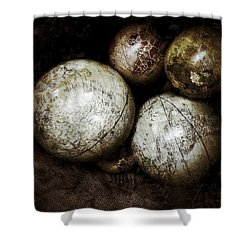 Stacking Worlds Shower Curtain