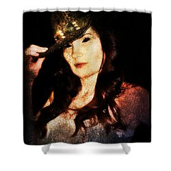Shower Curtain featuring the digital art Stacy 1 by Mark Baranowski