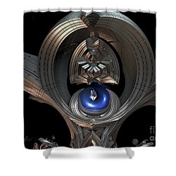 Staff Of Righteousness Shower Curtain by Melissa Messick