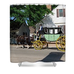 Stage Coach Shower Curtain by Eric Liller