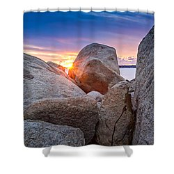 Stage Fort Park Gloucester Shower Curtain