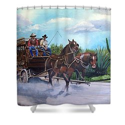 Stagecoach Shower Curtain