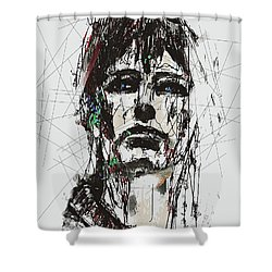 Staggered Abstract Portrait Shower Curtain