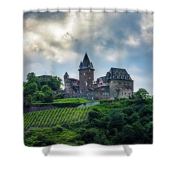Shower Curtain featuring the photograph Stahleck Castle by David Morefield