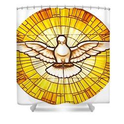 Stain Glass Dove Shower Curtain by Joseph Frank Baraba