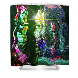 Stained Glass #4719_2 Shower Curtain by Barbara Tristan
