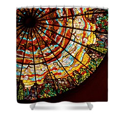 Stained Glass Ceiling Shower Curtain by Jerry McElroy