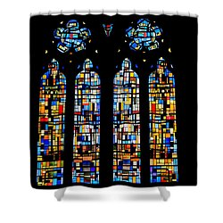 Shower Curtain featuring the photograph Stained Glass France by Tom Prendergast