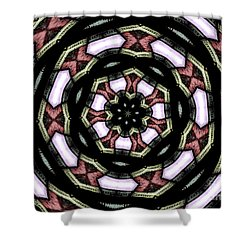Shower Curtain featuring the photograph Stained Glass Kaleidoscope 12 by Rose Santuci-Sofranko