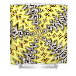 Shower Curtain featuring the photograph Stained Glass Kaleidoscope 18 by Rose Santuci-Sofranko