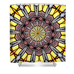 Shower Curtain featuring the photograph Stained Glass Kaleidoscope 23 by Rose Santuci-Sofranko