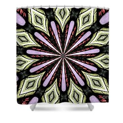 Shower Curtain featuring the photograph Stained Glass Kaleidoscope 25 by Rose Santuci-Sofranko