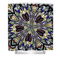 Stained Glass Kaleidoscope 38 Shower Curtain