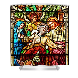 Shower Curtain featuring the photograph Stained Glass Scene 1 - 3 by Adam Jewell