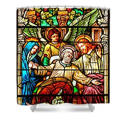 Shower Curtain featuring the photograph Stained Glass Scene 1 - 4 by Adam Jewell