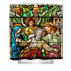 Shower Curtain featuring the photograph Stained Glass Scene 1 by Adam Jewell