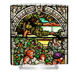 Shower Curtain featuring the photograph Stained Glass Scene 12 by Adam Jewell