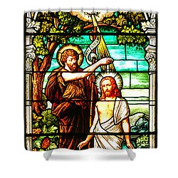 Shower Curtain featuring the photograph Stained Glass Scene 2 by Adam Jewell