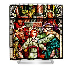 Shower Curtain featuring the photograph Stained Glass Scene 3 by Adam Jewell