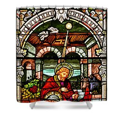 Shower Curtain featuring the photograph Stained Glass Scene 4 - 2 by Adam Jewell