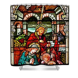 Shower Curtain featuring the photograph Stained Glass Scene 4 by Adam Jewell