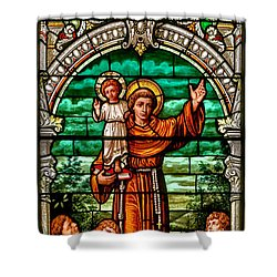 Shower Curtain featuring the photograph Stained Glass Scene 6 Crop by Adam Jewell