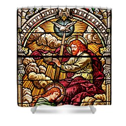 Shower Curtain featuring the photograph Stained Glass Scene 7 Crops by Adam Jewell