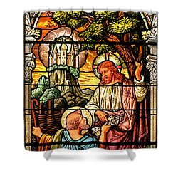 Shower Curtain featuring the photograph Stained Glass Scene 9 by Adam Jewell
