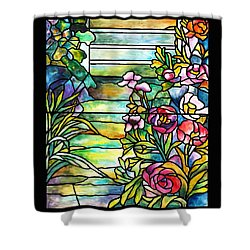 Stained Glass Tiffany Robert Mellon House Shower Curtain by Donna Walsh