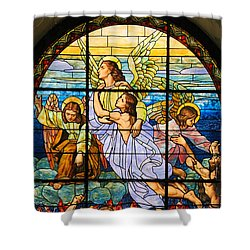 Stained Glass Window Shower Curtain by Elizabeth Budd