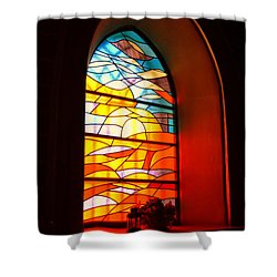 Stained Glass Window Shower Curtain