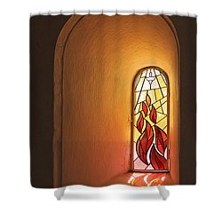 Shower Curtain featuring the photograph Stained Glass Window by Inge Riis McDonald
