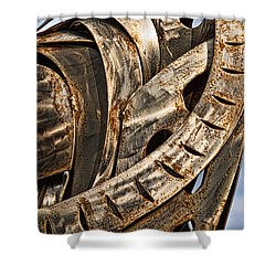 Stainless Abstract Shower Curtain by Christopher Holmes