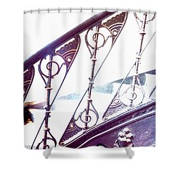 Stair Railing Abstract Shower Curtain