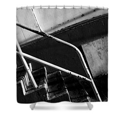 Stair Wall And Shadows Shower Curtain