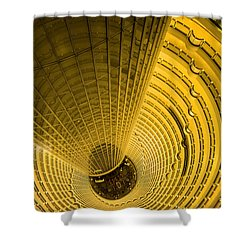 Staircase, Jin Mao Tower, Shanghai Shower Curtain