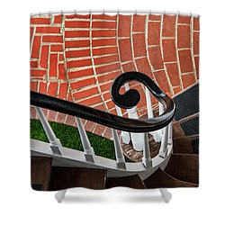 Staircase To The Plaza Shower Curtain by Gary Slawsky
