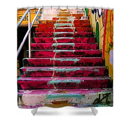 Stairs Shower Curtain by Angela Wright