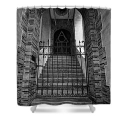 Stairs Beyond B-w Shower Curtain by Christopher Holmes