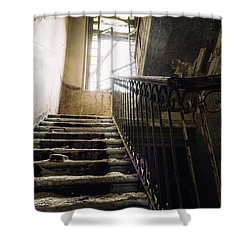 Stairs In Haunted House Shower Curtain