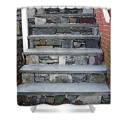 Shower Curtain featuring the photograph Stairs To The Plague House by RC DeWinter